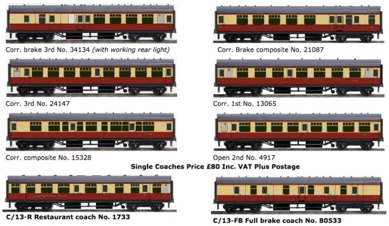 BR Mk I Blood and Custard Coaches