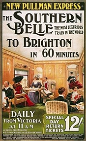 Southern Belle to Brighton poster