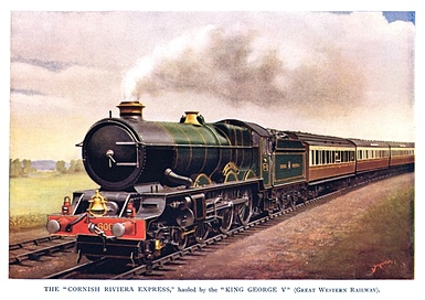 Cornish Riviera Express 'King George V' locomotive