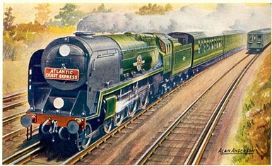 ACE Merchant Navy Class Loco poster