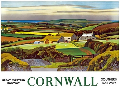 GWR/SR Cornwall poster